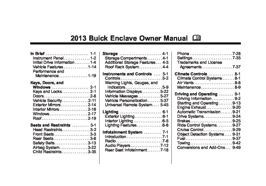 2013 buick enclave owners manual just give me the damn manual rh justgivemethedamnmanual com 2011 buick lucerne owners manual buick lucerne owners manual 2007