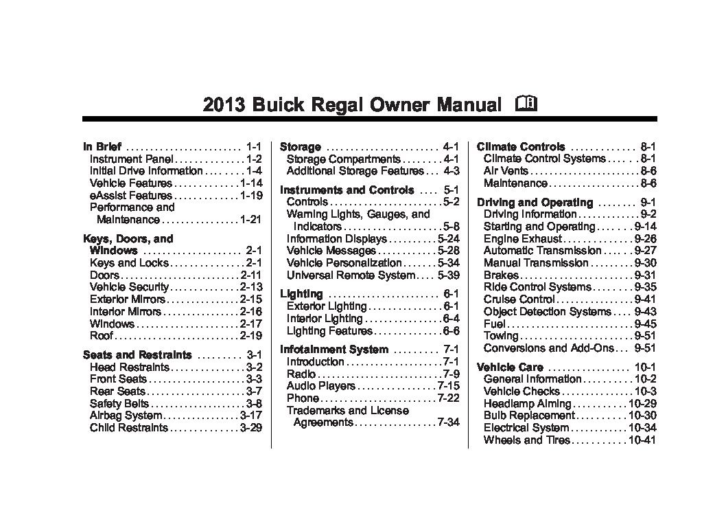 2013 buick regal owners manual just give me the damn manual rh justgivemethedamnmanual com 2013 buick regal turbo repair manual 2013 Buick Regal Interior
