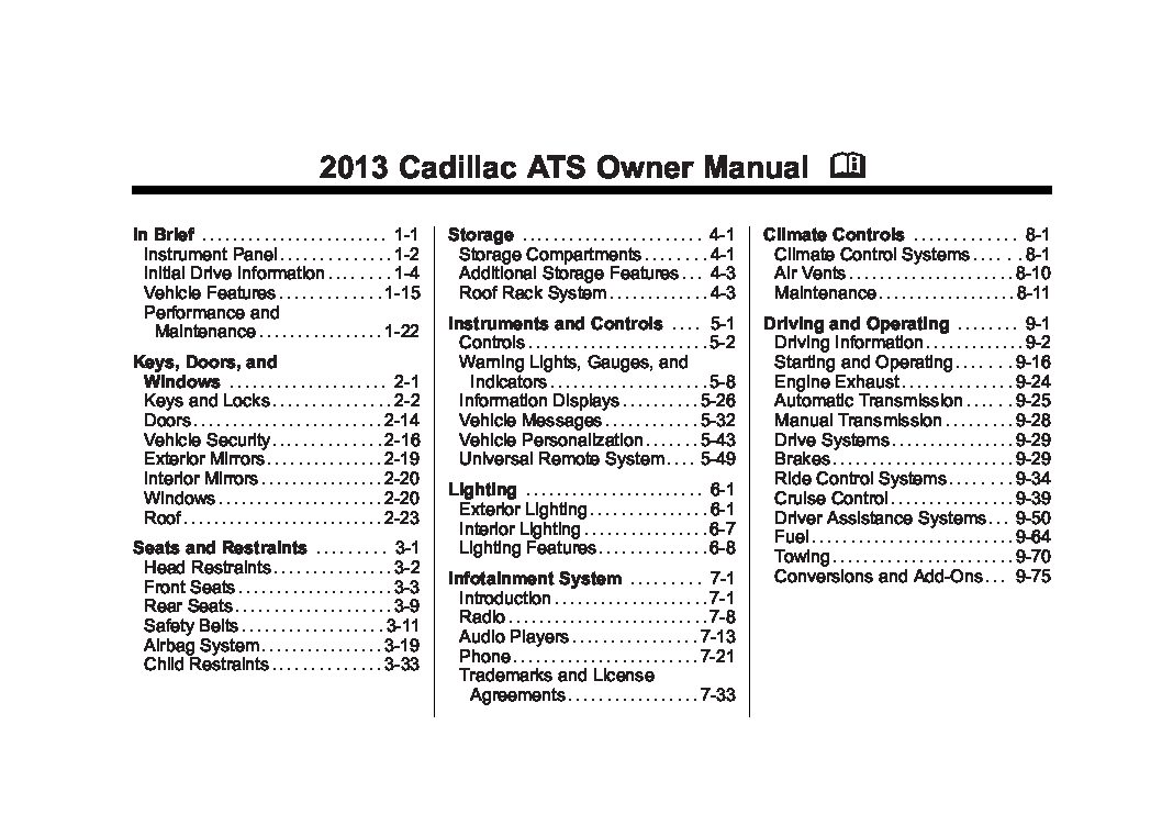 2013 cadillac ats owners manual just give me the damn manual rh justgivemethedamnmanual com 2013 cadillac cts owner's manual 2013 cadillac ats owners manual pdf