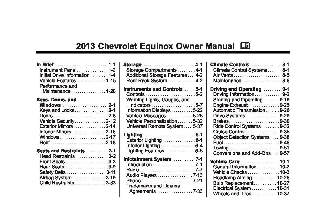2013 chevy equinox service manual