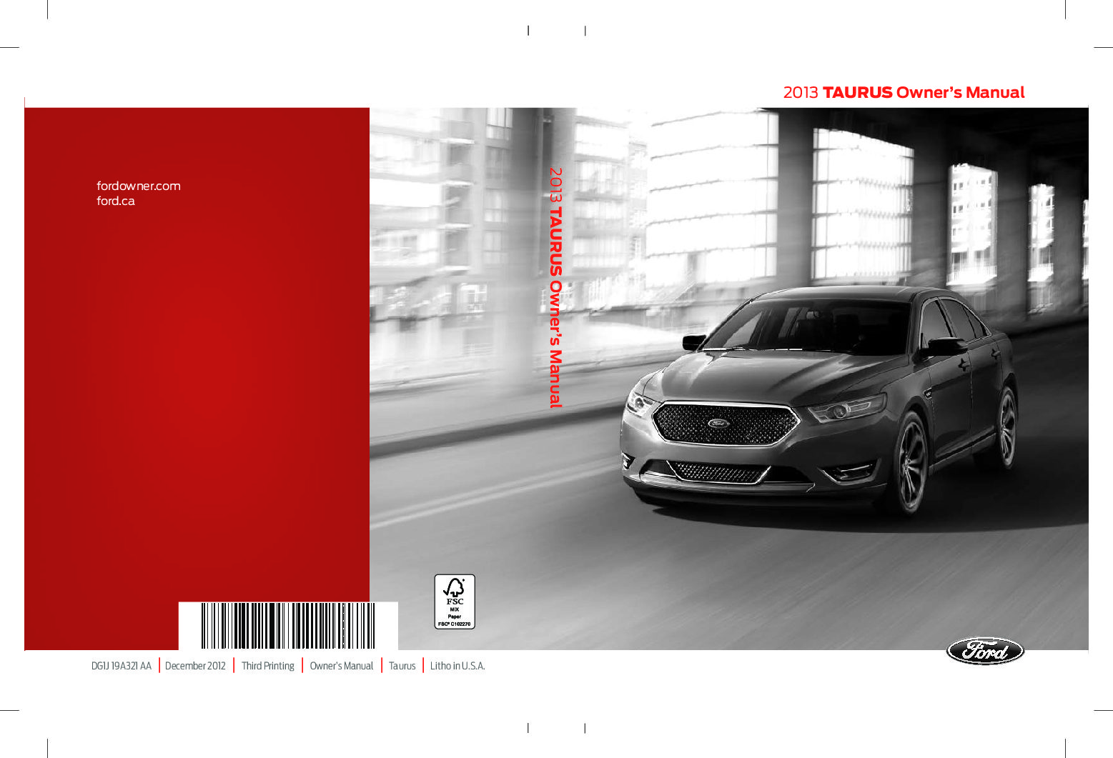 ford taurus owners manual  give   damn manual