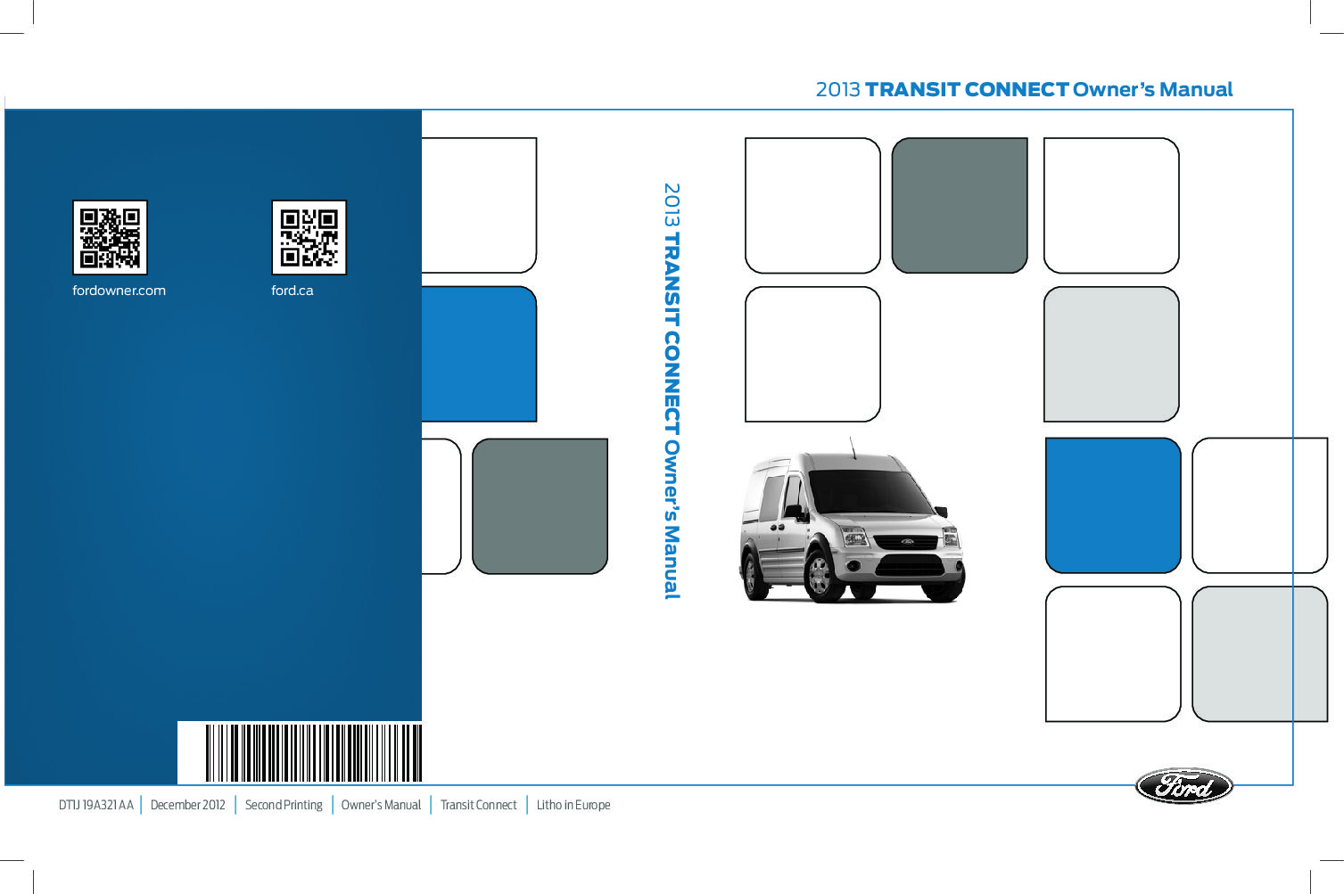 2013 ford transit connect Owners Manual   Just Give Me The Damn Manual