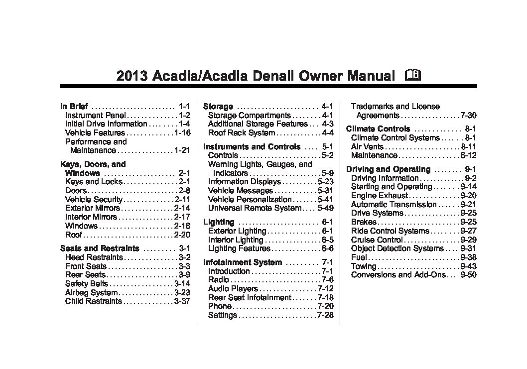 2013 gmc acadia owners manual just give me the damn manual rh justgivemethedamnmanual com 2012 gmc acadia owners manual 2012 GMC Acadia