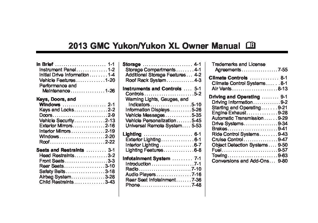 2013 gmc yukon owners manual just give me the damn manual rh justgivemethedamnmanual com 2013 Yukon Denali 2008 Yukon Denali