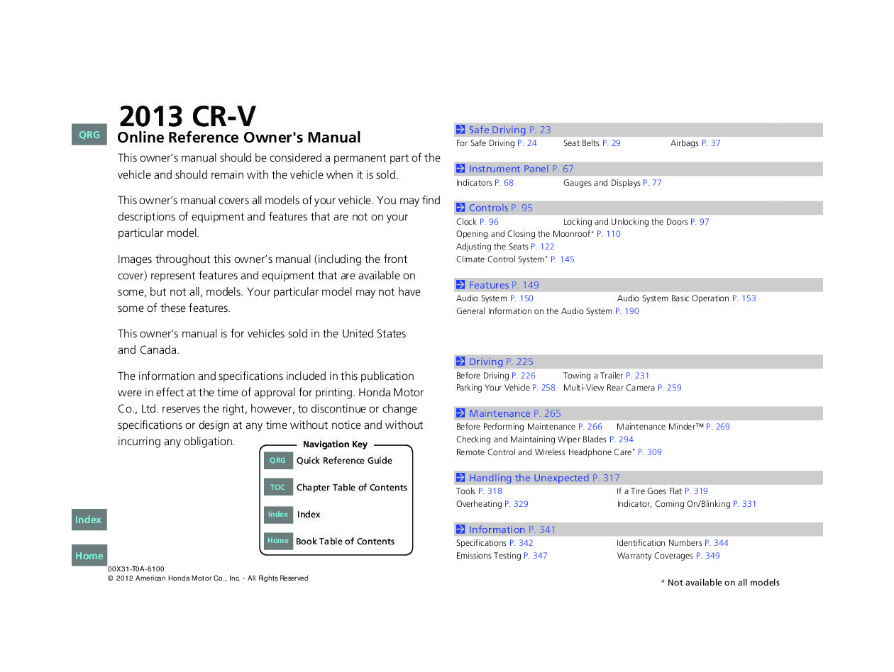 honda cr  owners manual  give   damn manual