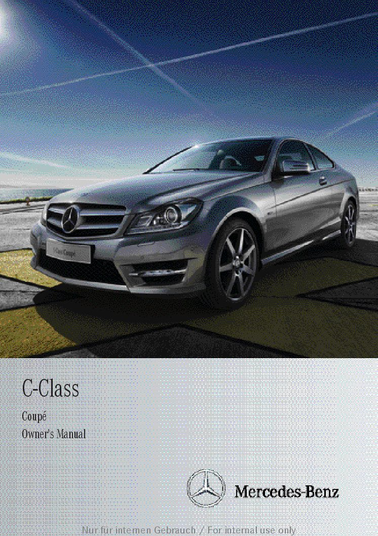 2013 mercedes benz c class coupe owners manual just give me the rh justgivemethedamnmanual com 2013 Mercedes C-Class Diesel 2013 mercedes c class owners manual