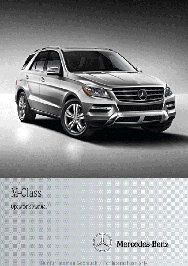 2013 mercedes benz m class owners manual just give me the damn manual rh justgivemethedamnmanual com m class manual gearbox m class operator's manual