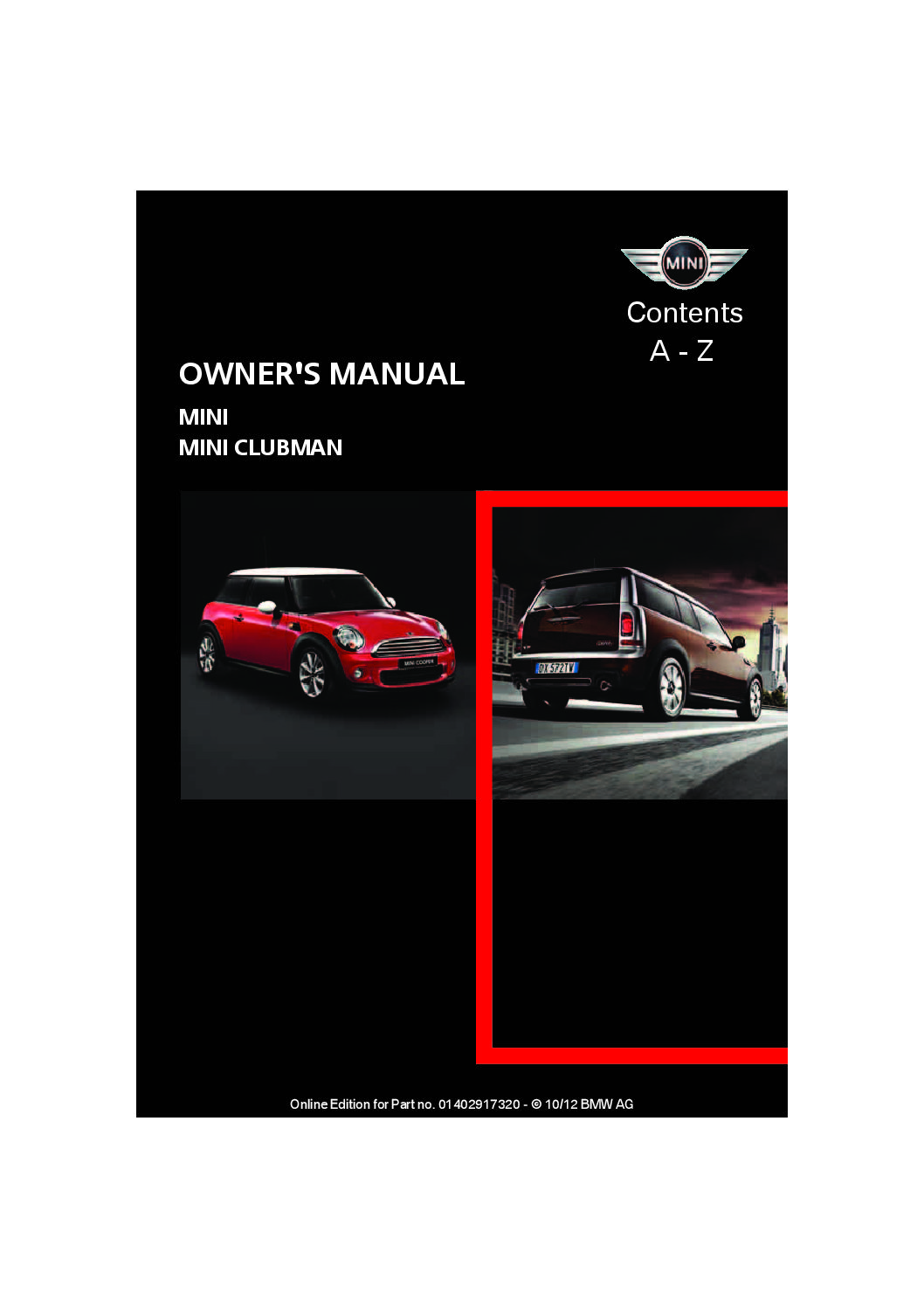 2013 Mini Clubman Owners Manual Just Give Me The Damn Manual