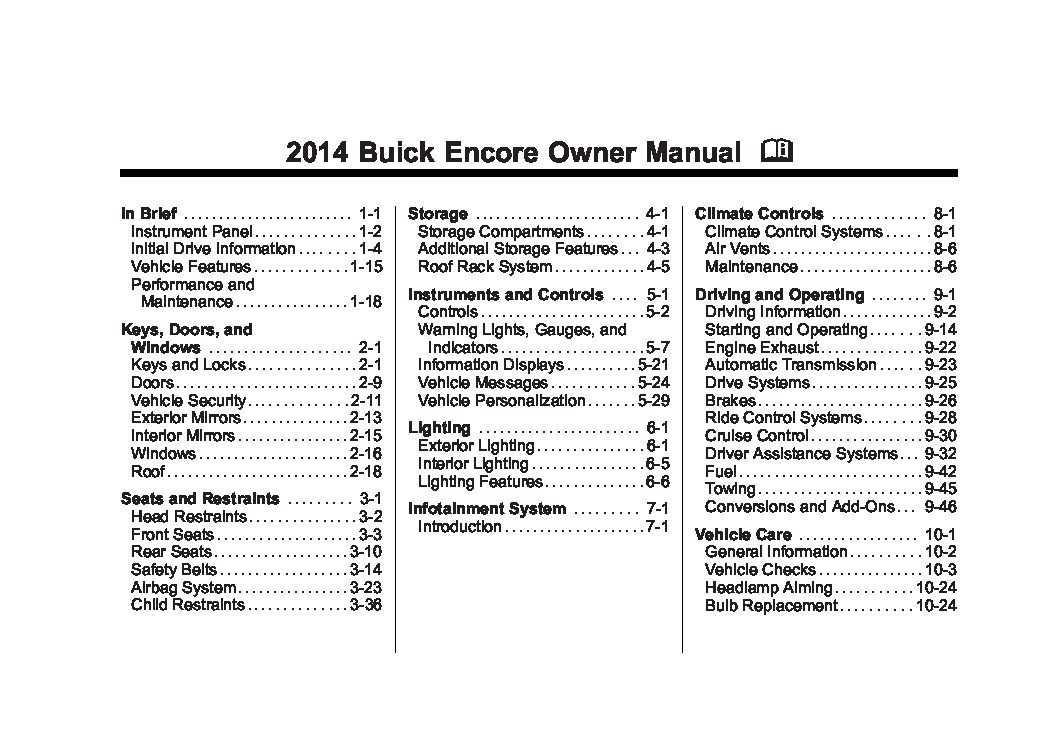 2014 buick encore owners manual just give me the damn manual rh justgivemethedamnmanual com owners manual buick enclave premium 2016 owners manual buick verano 2012