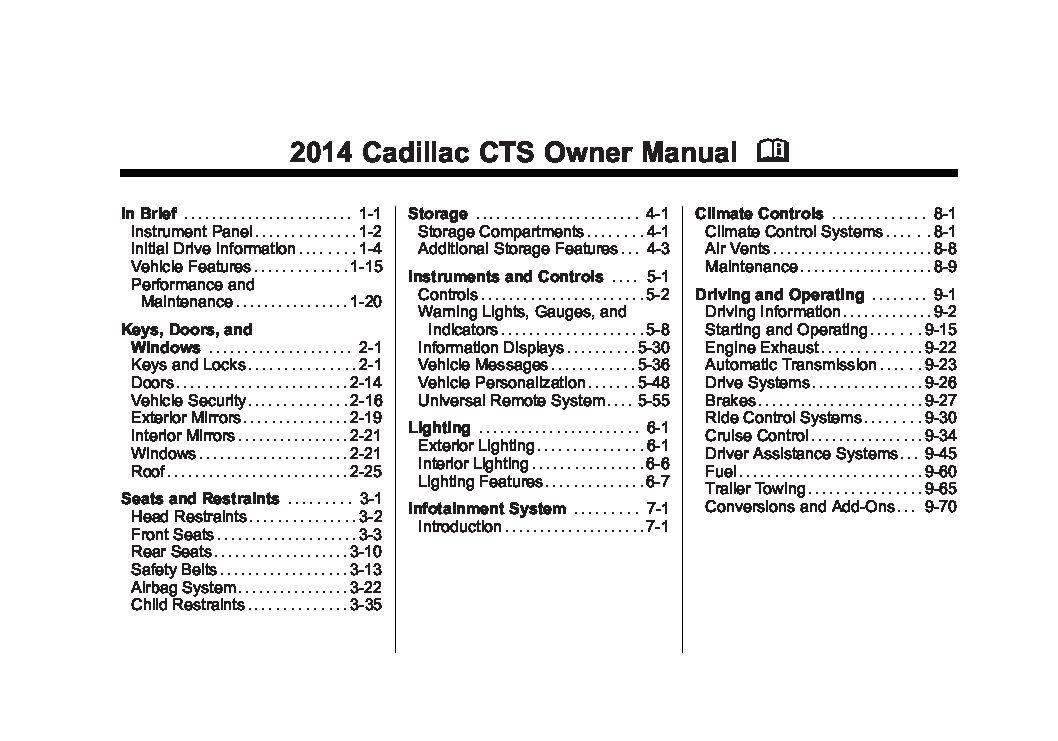 2014 cadillac cts owners manual just give me the damn manual rh justgivemethedamnmanual com 2006 cadillac sts owners manual 2006 cadillac sts owners manual