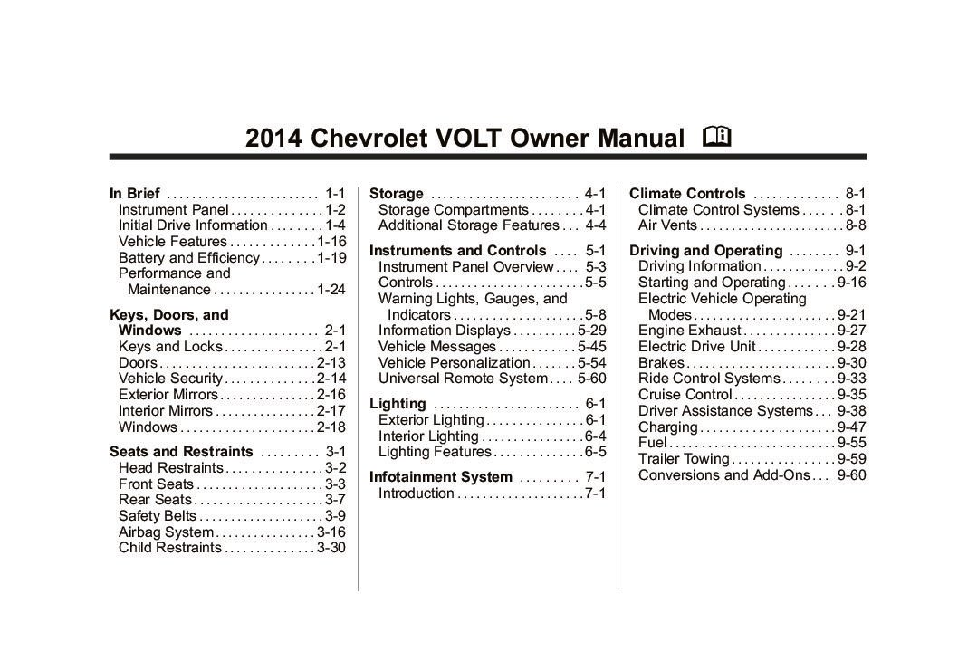 2014 chevrolet volt owners manual just give me the damn manual. Black Bedroom Furniture Sets. Home Design Ideas