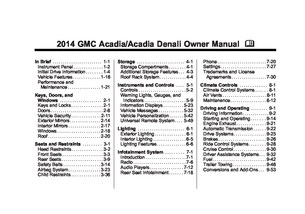2014 gmc acadia owners manual just give me the damn manual rh justgivemethedamnmanual com gmc denali owners manual yukon denali owners manual