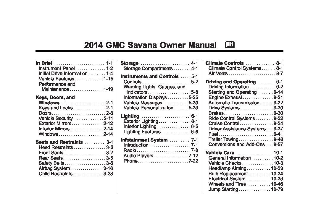 2014 gmc savana owners manual just give me the damn manual rh justgivemethedamnmanual com 2014 gmc savana owners manual 2010 gmc savana owners manual