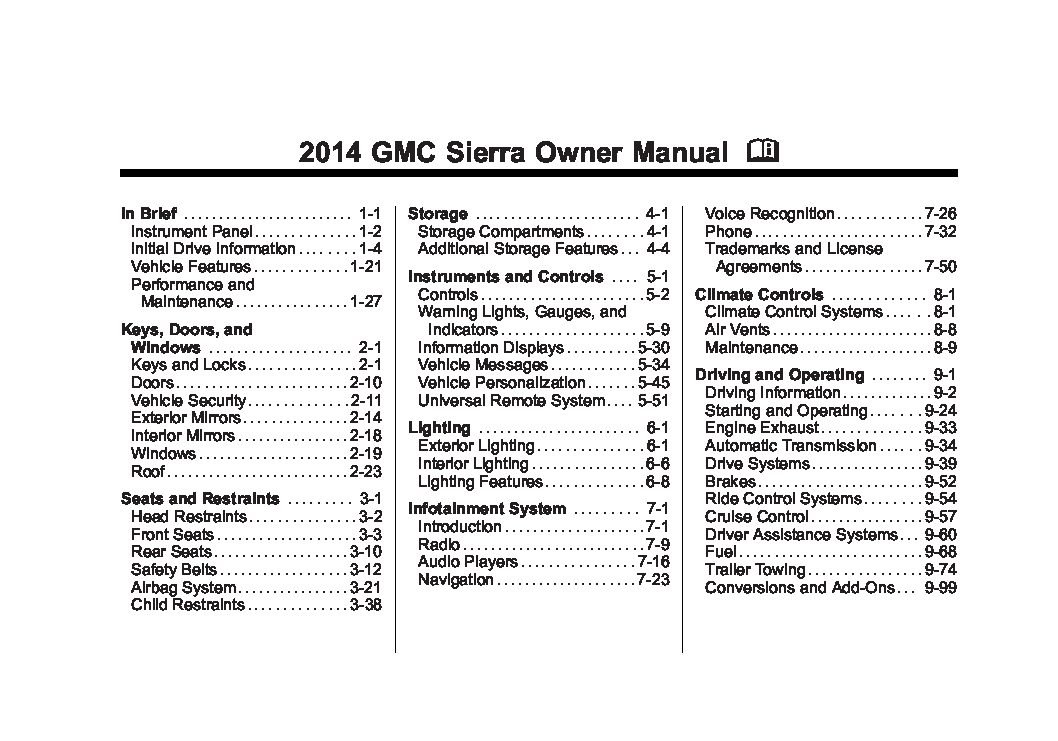 2014 gmc sierra owners manual just give me the damn manual rh justgivemethedamnmanual com 2008 gmc sierra owners manual pdf 2007 gmc sierra service manual