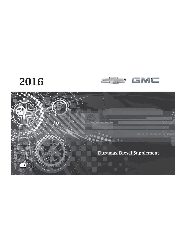 2016 chevy Silverado 3500 crew cab long box diesel 6.6 liter LTZ Owner's  Manual